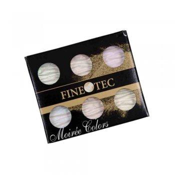 Finetec MO600 - Mica Watercolor - Pearl Moiree Iridescent - 6 Color Set