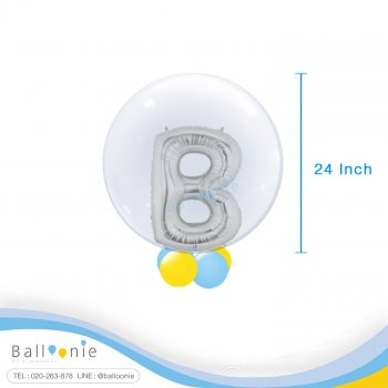 ลูกโป่ง Bubble Balloon+Alphabet