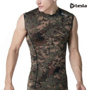 เสื้อคอกลมแขนกุดกระชับกล้ามเนื้อ  TM-R15-PCK
