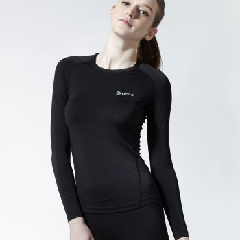 เสื้อกระชับกล้ามเนื้อสุภาพสตรีแขนยาว TM-WR11-BLK