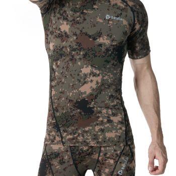 {Z Series} เสื้อคอกลมแขนสั้นกระชับกล้ามเนื้อ TM-R13-PCKZ