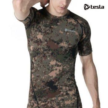 เสื้อคอกลมแขนสั้นกระชับกล้ามเนื้อ TM-R13-PCK