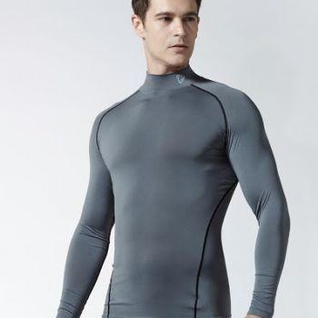 เสื้อแขนยาว Mock Neck TM-T11-GRK