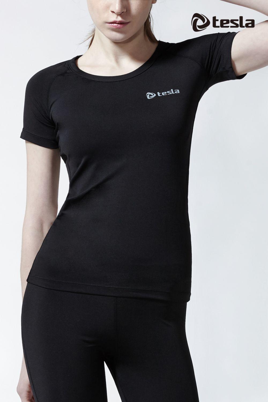 เสื้อกระชับกล้ามเนื้อสุภาพสตรีแขนสั้น TM-WR13-BLK