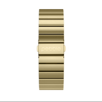 pebble time steel Strap Gold