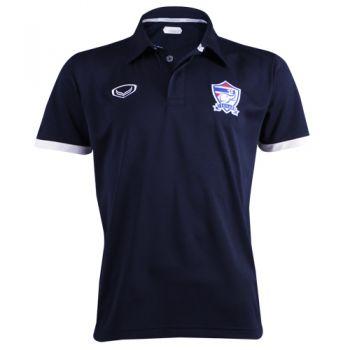 แกรนด์สปอร์ตเสื้อโปโลฟุตบอลทีมชาติไทย ( สีกรม )