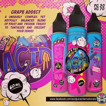 น้ำยาบุหรี่ไฟฟ้า Acid Grape addict