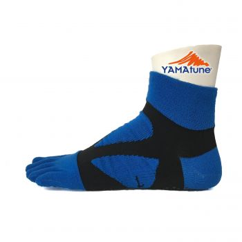 Yamatune :5 toe  Spider Arch Socks Middle - Blue x Black