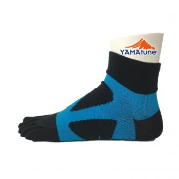 Yamatune : 5 toe Spider Arch Socks Middle - Black x Blue