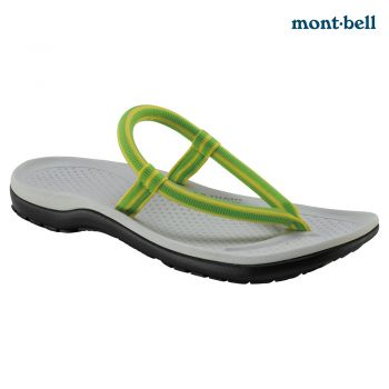 Montbell : Slip-on sandals comfort Grey/Green