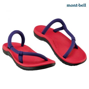 Montbell : Sock-on sandals comfort   Red/Purple